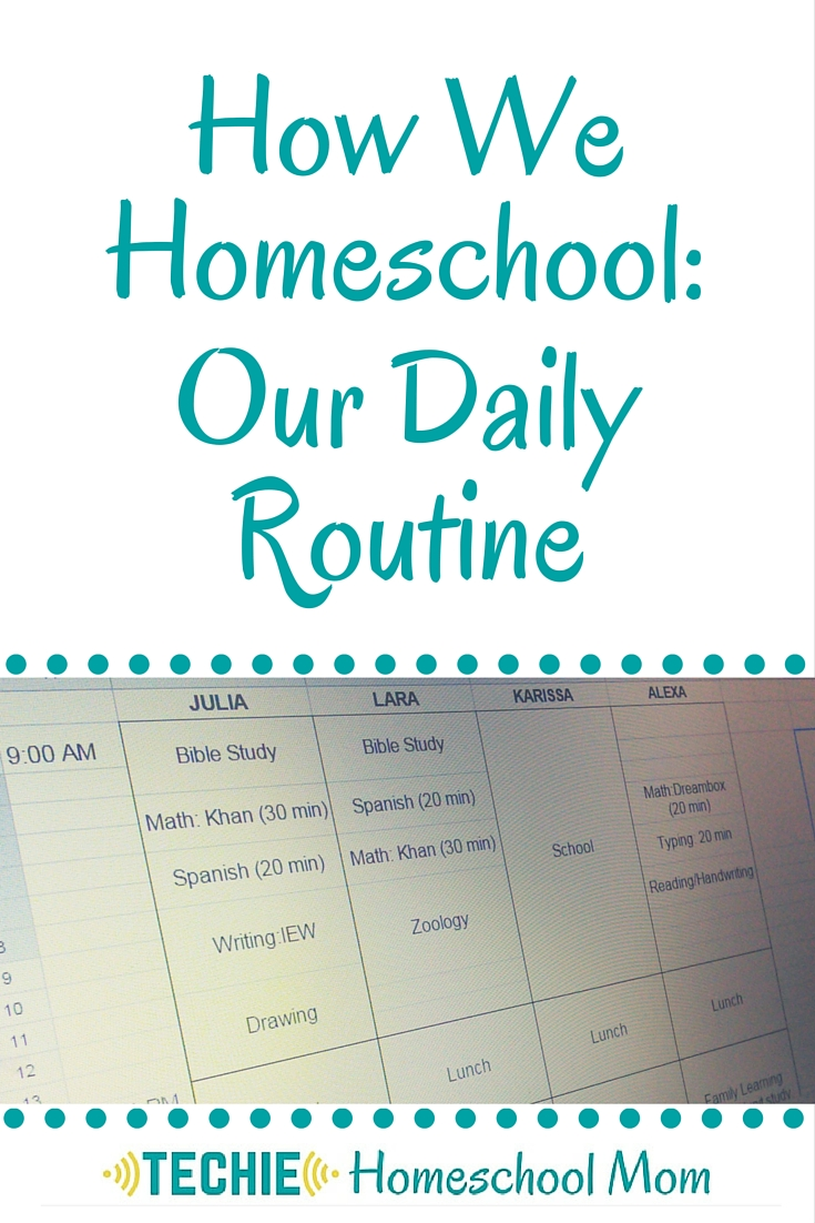 How We Homeschool: Our Daily Routine