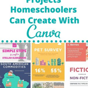 Visual design projects are a great way for homeschoolers to share what they learn. Do you need to add more projects into your homeschool lesson plans? Be inspired with these 15 awesome projects homschoolers can create with Canva.