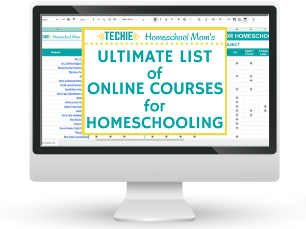The Ultimate List of Online Courses for Homeschooling