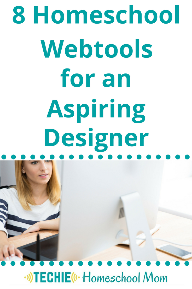 "Do you have an aspiring designer in your home? You can nurture their interest and point them towards information that will introduce them to design concepts. Your budding designer needs to ""play"" with the digital tools that real designers use. Check out these 8 Homeschool Webtools that"