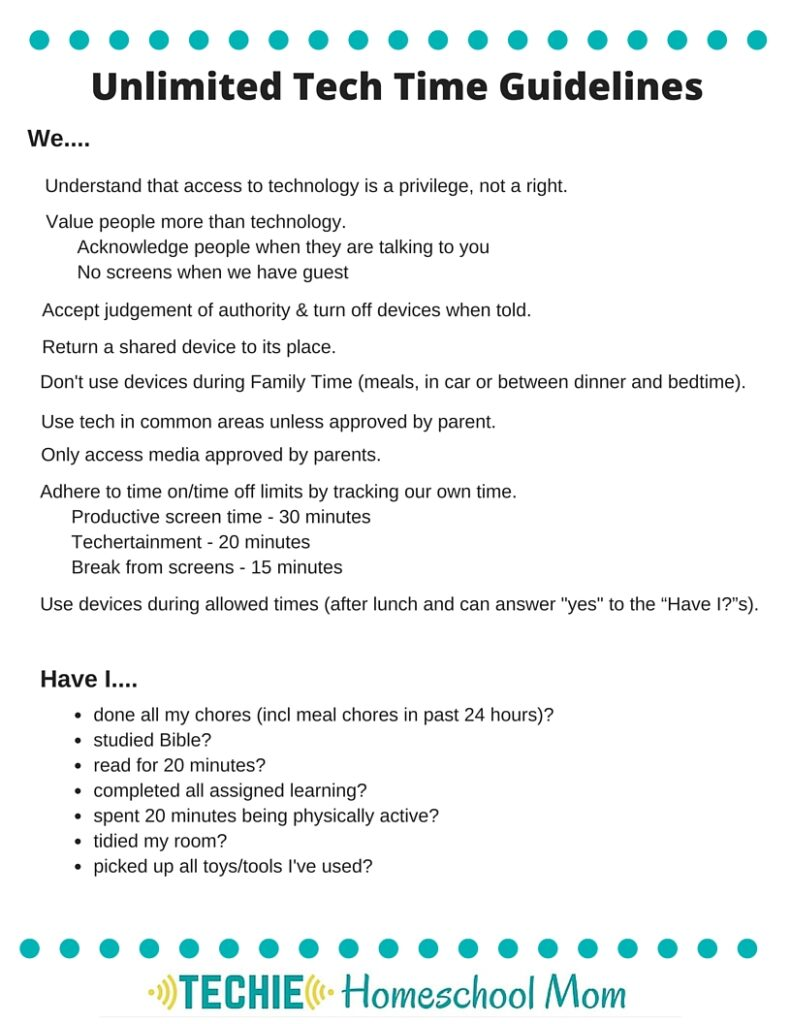 photo regarding Screen Time Rules Printable identify Why I Stopped Working My Youngsters Show Year - Techie