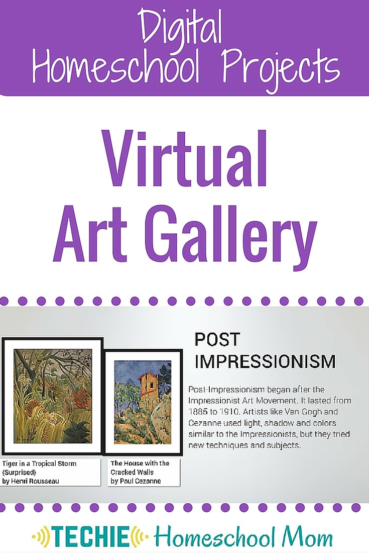 How would your kids like to create a virtual art gallery? They can use this webtool to share their own artwork or to demonstrate what they have learned about famous artists and artwork. This is a 'must do' project for any homeschool art curriculum. Get your free template today.