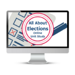 Elections Unit Study. This homeschool curriculum integrates multiple subjects for multiple ages of students. Access websites and videos and complete digital projects. With Online Unit Studies' easy-to-use E-course format, no additional books and print resources are needed. Just gather supplies for hands-on projects and register for online tools.