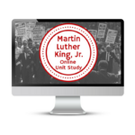 Learn about Martin Luther King Jr. with Online Unit Studies. This homeschool curriculum integrates multiple subjects for multiple ages of students. Access websites and videos and complete digital projects. With Online Unit Studies' easy-to-use E-course format, no additional books and print resources are needed. Just gather supplies for hands-on projects and register for online tools.
