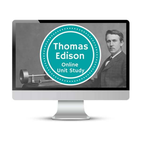 Learn about Thomas Edison with Online Unit Studies. This homeschool curriculum integrates multiple subjects for multiple ages of students. Access websites and videos and complete digital projects. With Online Unit Studies' easy-to-use E-course format, no additional books and print resources are needed. Just gather supplies for hands-on projects and register for online tools.