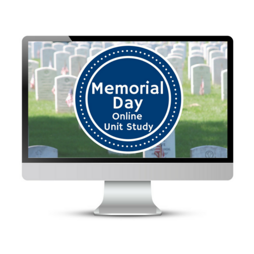 Memorial Day Unit Study. This homeschool curriculum integrates multiple subjects for multiple ages of students. Access websites and videos and complete digital projects. With Online Unit Studies' easy-to-use E-course format, no additional books and print resources are needed. Just gather supplies for hands-on projects and register for online tools.