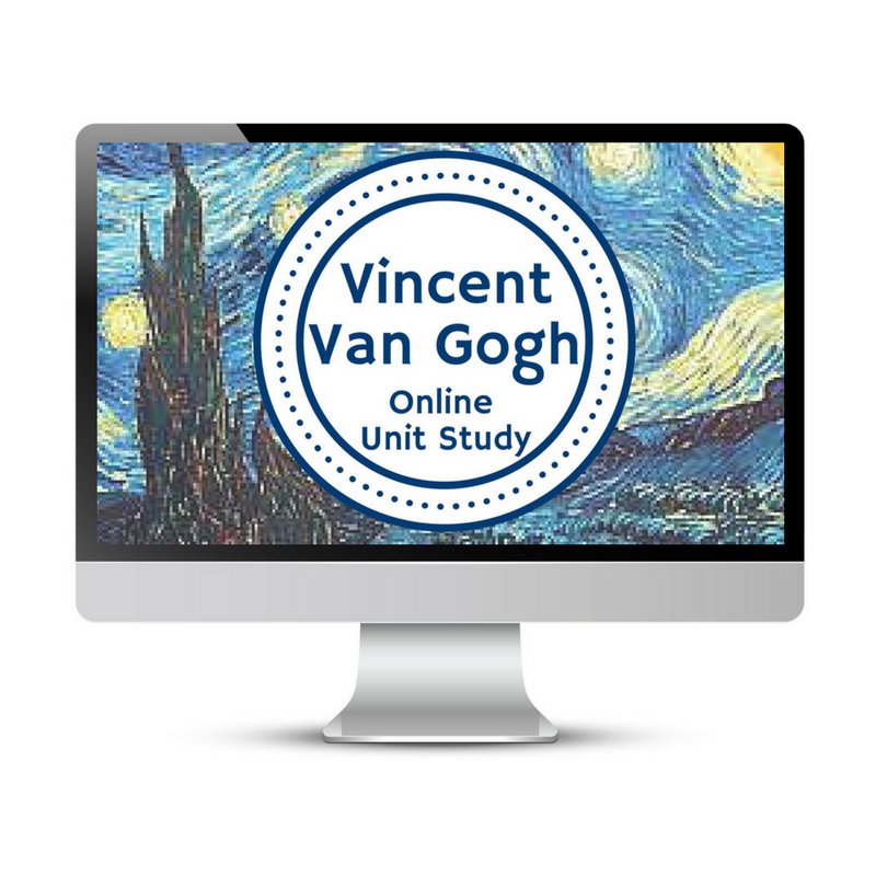Vincent VanGogh Unit Study. This homeschool curriculum integrates multiple subjects for multiple ages of students. Access websites and videos and complete digital projects. With Online Unit Studies' easy-to-use E-course format, no additional books and print resources are needed. Just gather supplies for hands-on projects and register for online tools.
