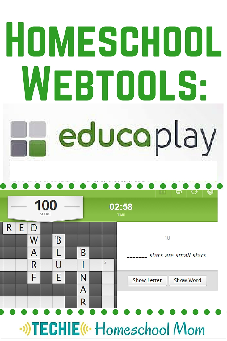 "Educaplay is one of my favorite homeschool webtools because it gives my family opportunities to be information creators, not just information consumers. We can create crossword puzzles, jumbled sentences, interactive ""maps"" (which could be any type of image), matching games and more."