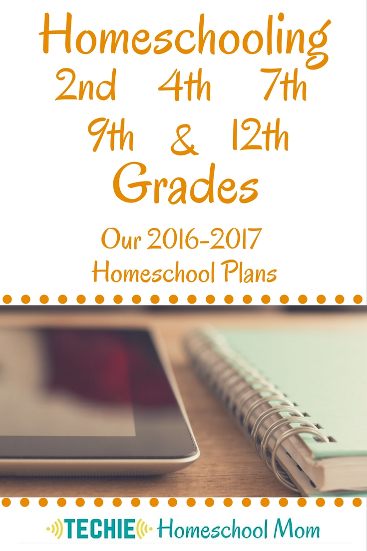Homeschooling 2nd, 4th, 7th, 9th and 12th Grade