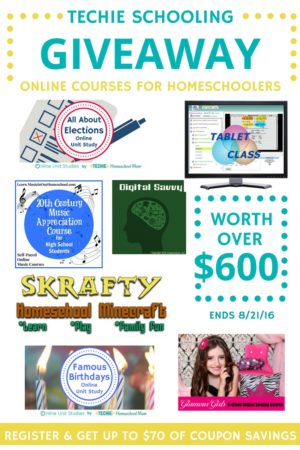 Techie Schooling Giveaway + coupons for everyone!