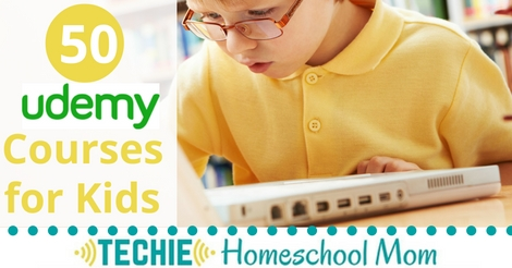 Udemy is a great resource for any techie homeschool family. Each of Udemy's 40,000+ courses is taught by an expert instructor, and every course is available on-demand, so students can learn at their own pace, on their own time, and on any device. With so many courses available, it can be hard to find one that is good for kids. But...I've got you covered, my friend. Here is a list of 50 courses for kids on Udemy.