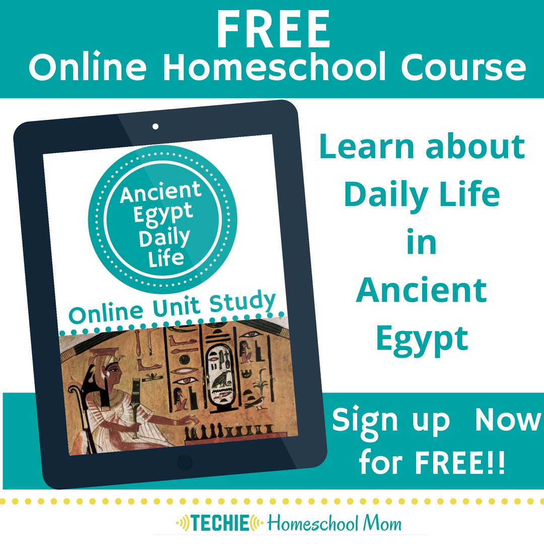 Ancient Egypt Daily Life Unit Study. This homeschool curriculum integrates multiple subjects for multiple ages of students. Access websites and videos and complete digital projects. With Online Unit Studies' easy-to-use E-course format, no additional books and print resources are needed. Just gather supplies for hands-on projects and register for online tools.