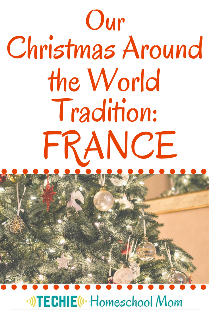 "Learning about Christmas in other cultures would be a great way to keep homeschooling through the holidays. Studying Christmas around the world has become our family tradition. Try out this free ""Christmas in France"" lesson to start your own new Christmas tradition."
