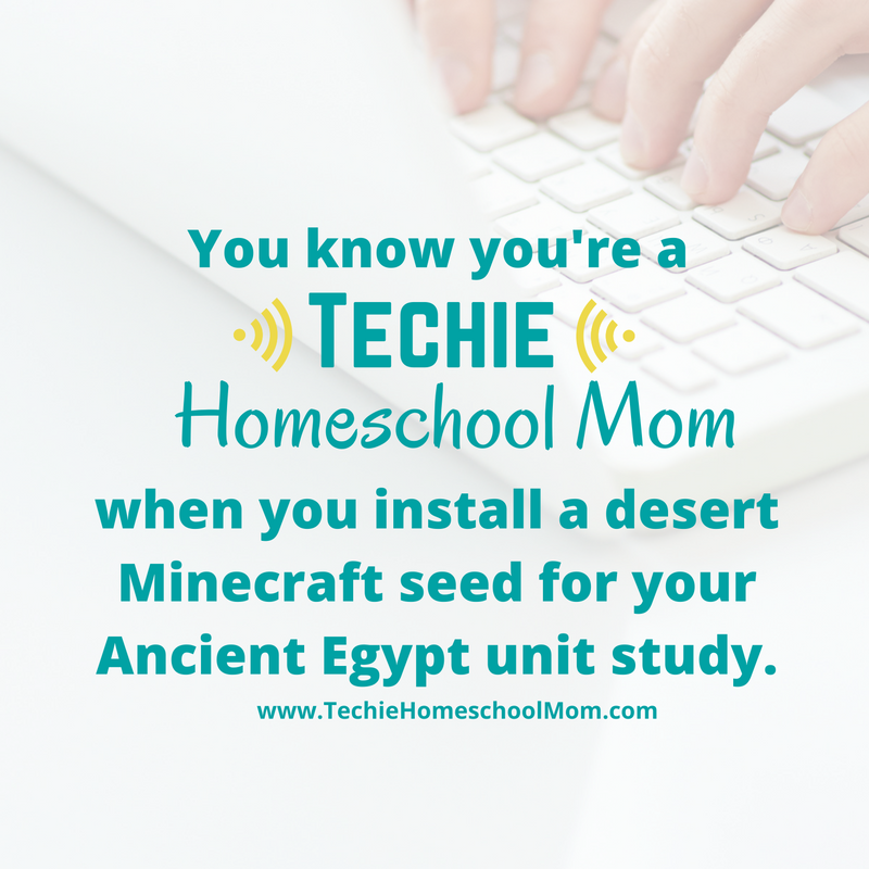 You Know You're a Techie Homeschool Mom When…