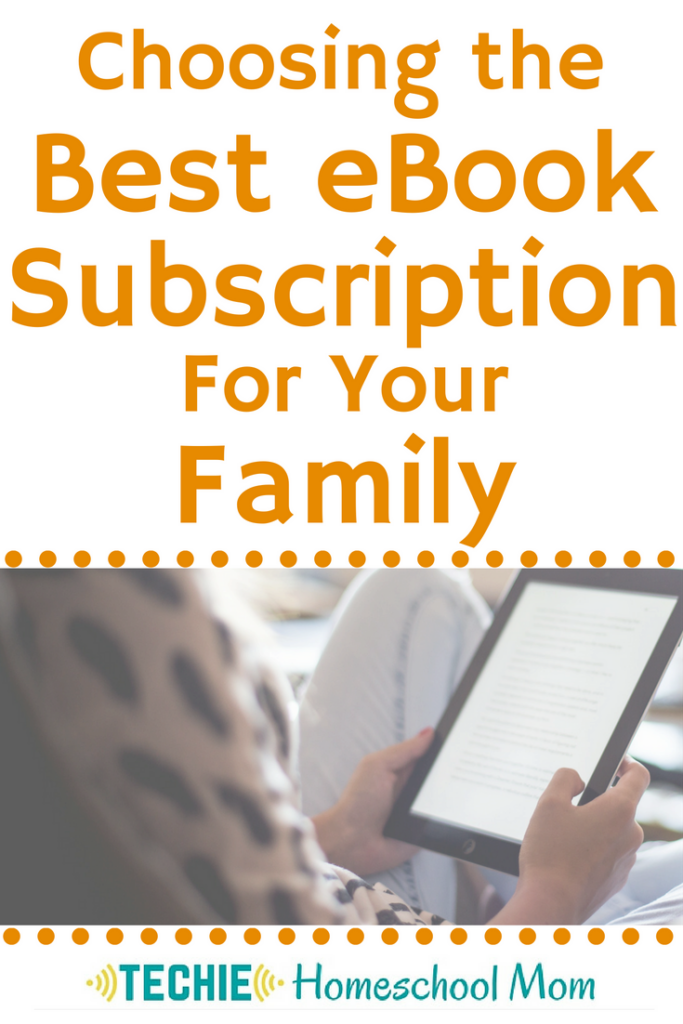 One of the easiest ways to start techin' your homeschool is to include eBooks. The advantages are appealing to me, but purchasing ebooks for our large family gets spendy. so, using an eBooks subscription service makes sense. Read to learn more about three eBooks subscription options and decide which is best for your family.