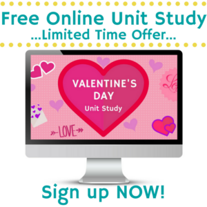 Learn about Valentine's Day with Online Unit Studies.