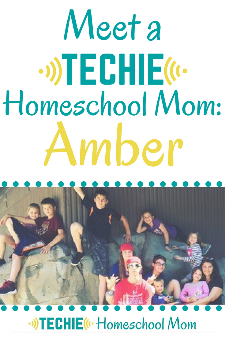 Meet Amber, a techie homeschool mom, and be inspired to add more digital learning to your homeschool.