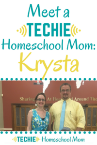 Meet Krysta, a techie homeschool mom, and be inspired to add more digital learning to your homeschool.