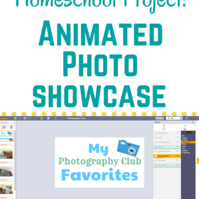 Techie Homeschool Student Project: Animated Photo Showcase
