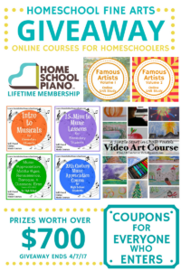 Homeschool Fine Arts Giveaway with 8 Online Courses