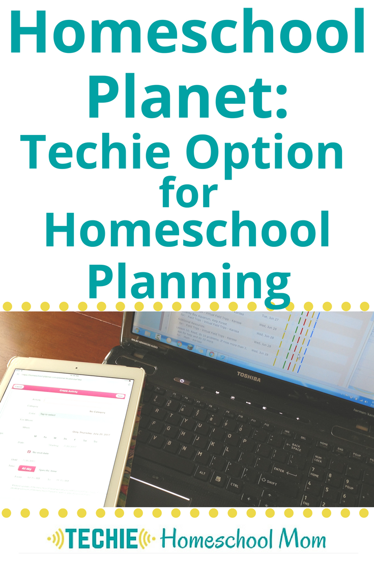 Homeschool Planet: Techie Option for Homeschool Planning
