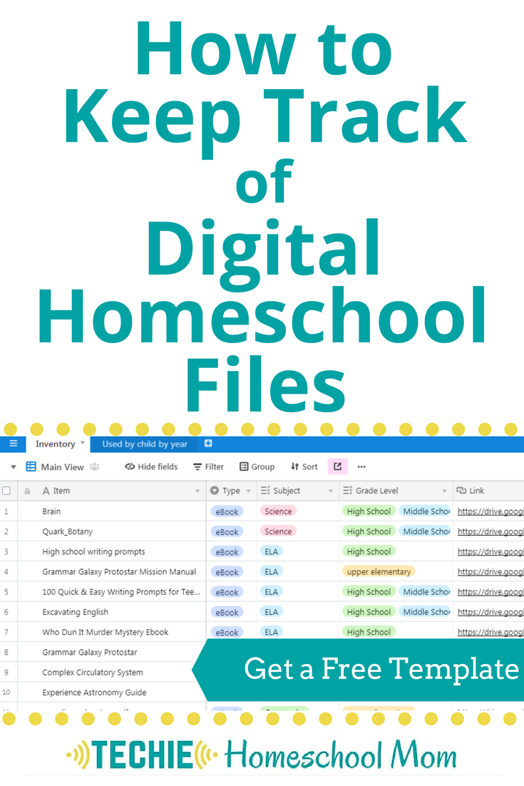 Learn how to keep track of all your homeschool links and digital files. Free template available.