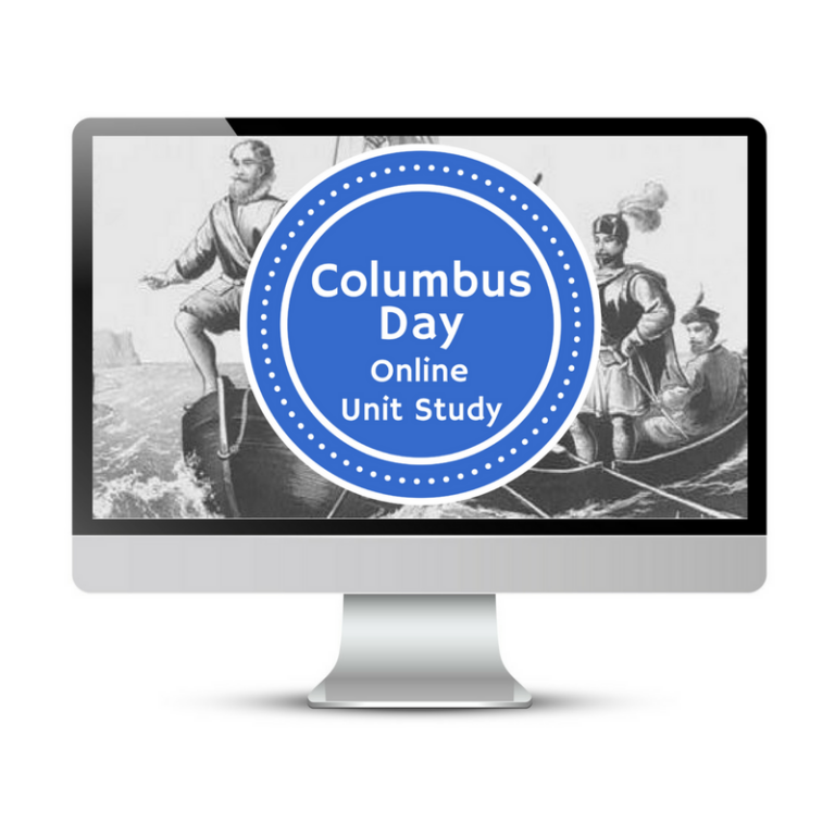 Columbus Day Homeschool Lesson Plans for Online Unit Studies