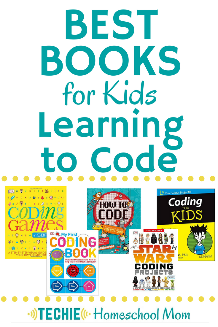 So, your child wants to learn to program computers. And you have no idea how to teach them to code, right? Discover the best books for kids learning to code (recommended by Techie Homeschool Mom)