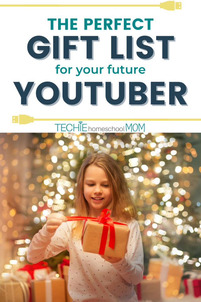 Find over 20 gift ideas for an aspiring YouTube star.