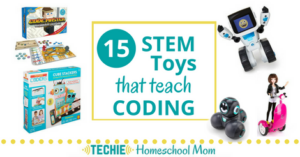 This list of 15 STEM Toys that teach coding will give you lots of gift ideas for techie kids.