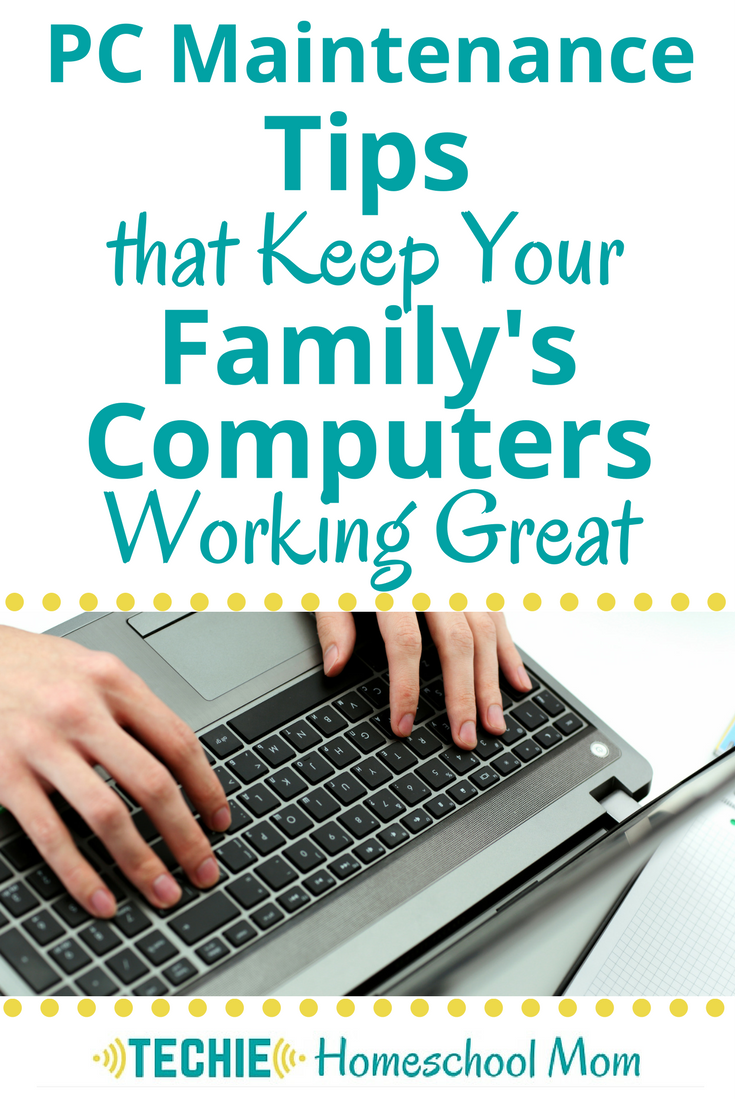 Discover PC Maintenance tips that will keep your family's computers running smoothly.