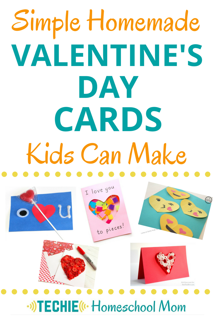 Simple homemade valentine 39 s day cards kids can make for Valentine day at home