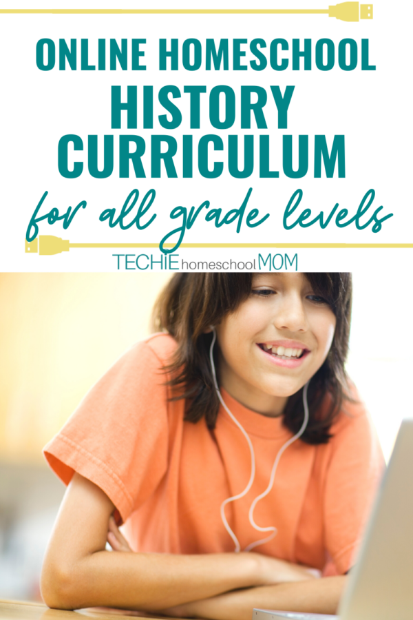 This list is just what you need to find an online history curriculum for your homeschool.