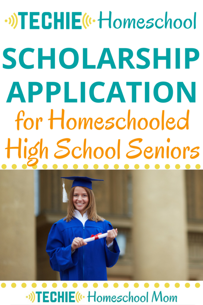 $500 scholarship for homeschooled high school seniors.