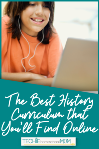 Looking for a homeschool history curriculum? This list is just what you need to find an online history curriculum for your for your homeschool lesson plans.