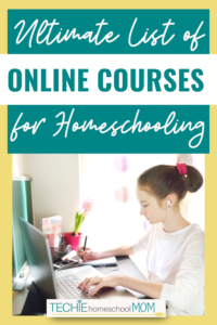 No need to search all over the Internet for the best online courses for homeschooling. Get this complete list with 150+ websites where you can find the best courses for your homeschoolers.