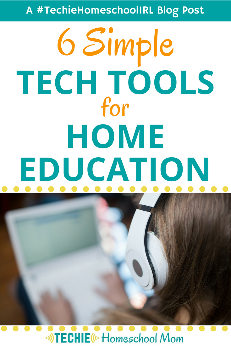 Here's some good advice for ways to use more tech for home education. Simple is what I need.