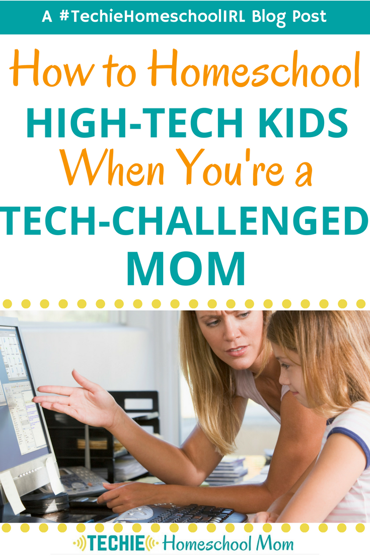 I think lots of homeschool moms can relate to this post. What can I do to help my techie kid when I feel clueless about tech???