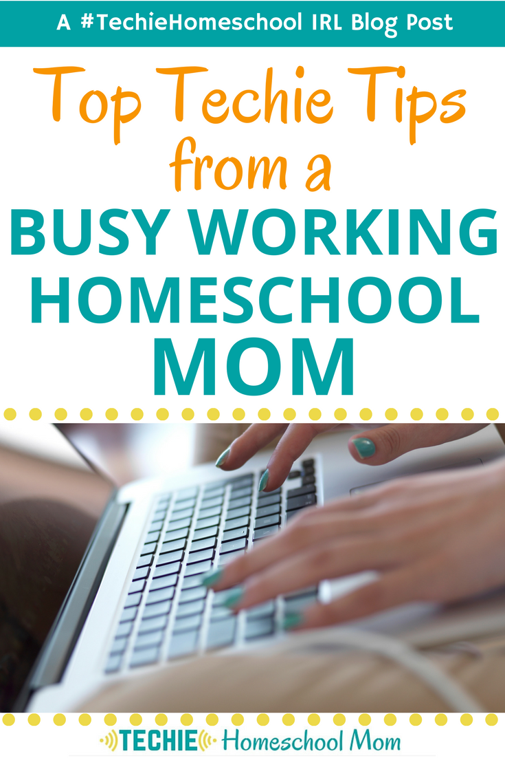 Hone your working homeschool mom superpowers with these techie tips to help you manage your family's home education while you work.