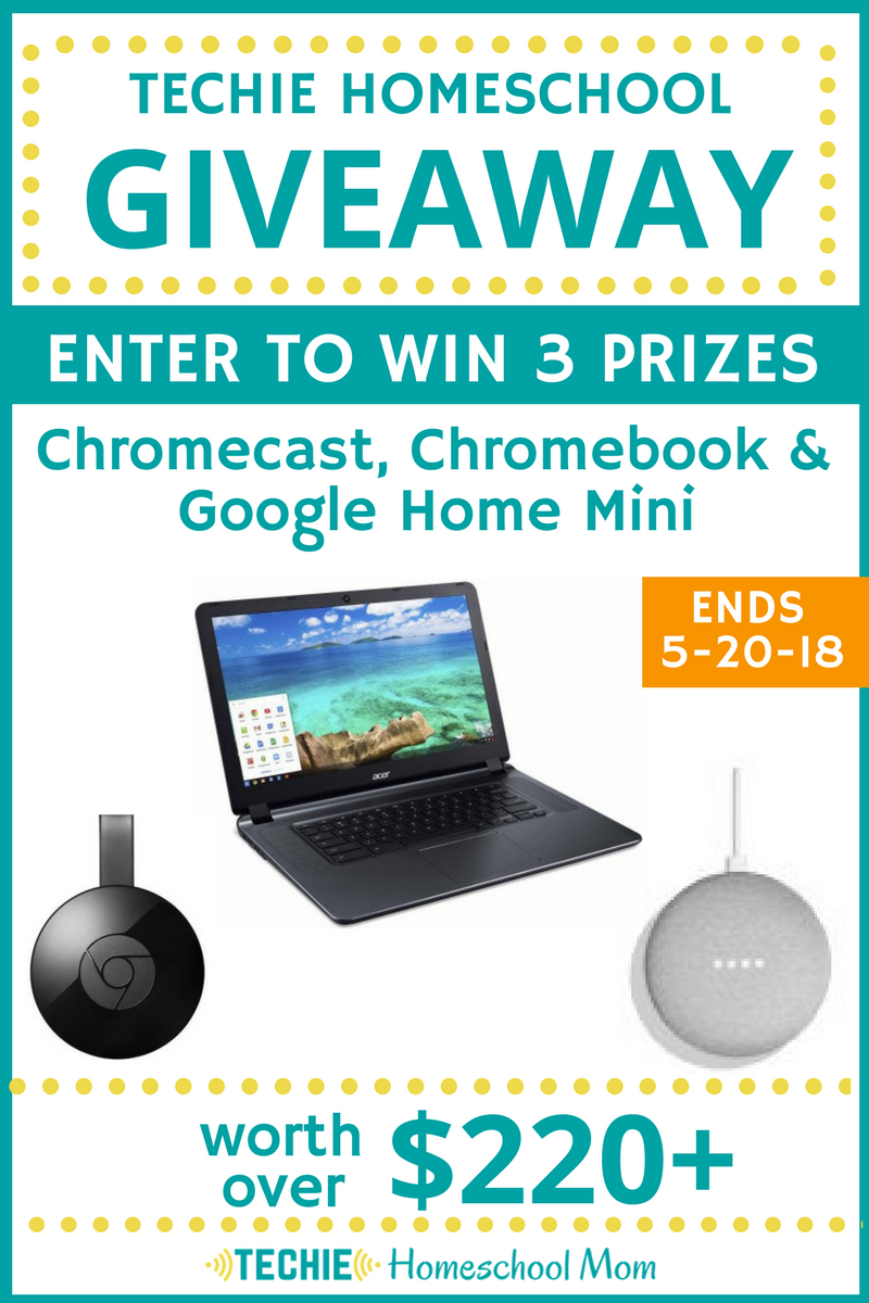 Enter the techie homeschool giveaway and win fabulous prizes that help you add more digital learning to your homeschool