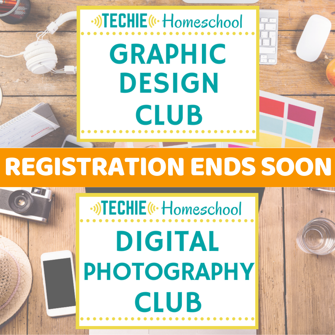 Registration is open! Join an online club for techie homeschoolers.