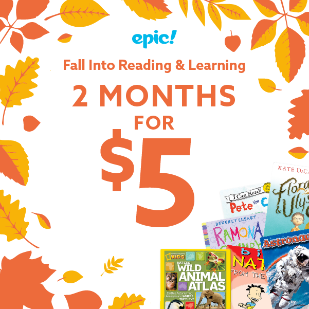 Two Months for just $5 at Epic eBook Library