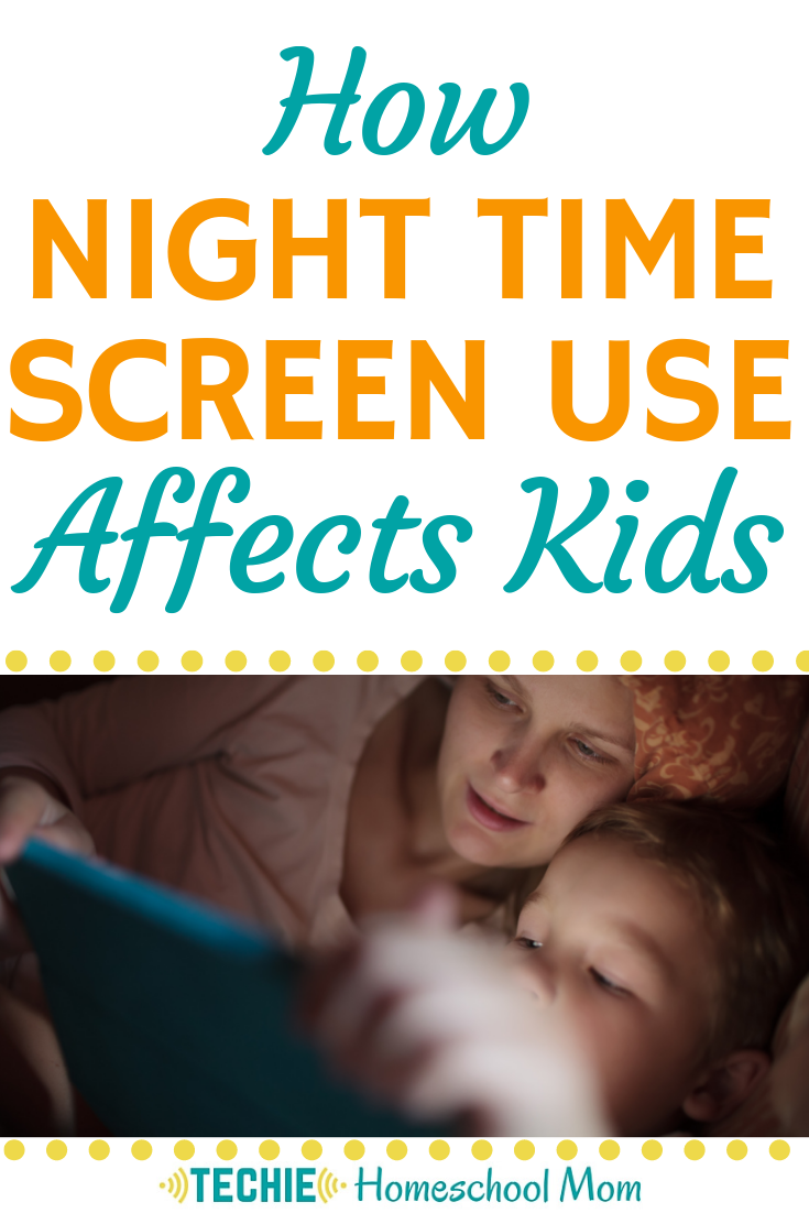 Wondering if your kids should be on their tablets before bed? Read this post to find out the effect on nighttime screen use on your kids.