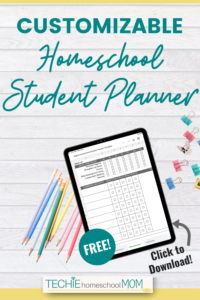 Want a customizable, yet simple, homeschool planner to keep track if your kids are getting their work done? Check out how to use this homeschool student planner template.