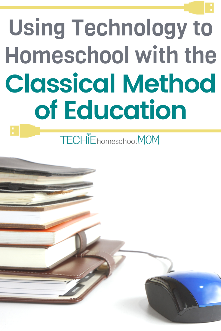 """Classical"" and ""Technology"" don't seem to jive. But that's not the case for this techie homeschooler.  Read to discover how Holly integrates tech into her Classical Homeschool."