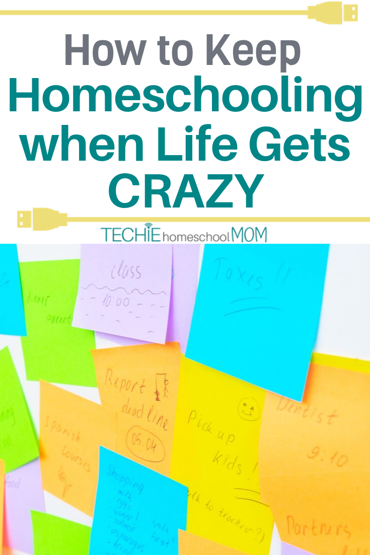 Life happens, but homeschooling can't stop. Read to discover five things you can drop from your plans to keep homeschooling when life gets chaotic.