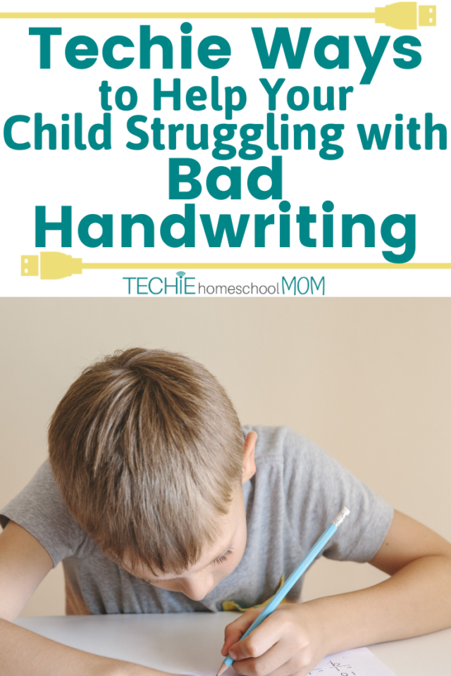 """""""Help! My child's handwriting is horrendous!"""" Is this you? Have you taken advantage of all the techie options to help a child with bad handwriting? Take a look at these resources that can help."""