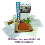 Get 20% off our art materials packs when you sign up for our newsletter on our website.